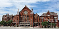 The site of the 1880 Democratic National Convention: Cincinnati's Music Hall