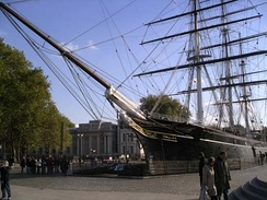 Cutty Sark in Greenwich, October 2003