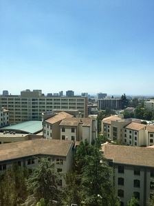 UCLA student housing site of the Olympic Village
