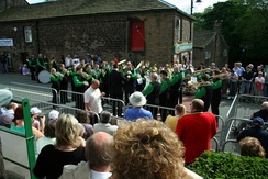 Since 1993, Denshaw has held an annual brass band contest.