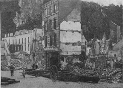 Ruins of Dinant following the battle