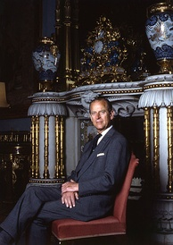 The Duke of Edinburgh in the Chinese Luncheon Room