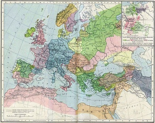 Europe and the Mediterranean Sea in 1190