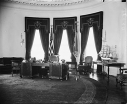 The newly built Oval Office in 1934.