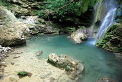 Fonisa Waterfall at Mylopotamos, Cythera
