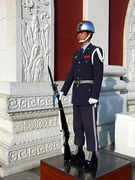 An ROC honor guard soldier and his M1 Garand