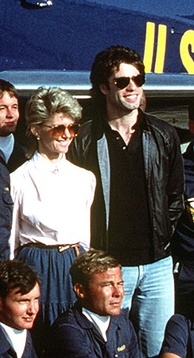 Newton-John appearing with John Travolta in 1982