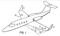 Gates Learjet patent filed Aug 28, 1978, showing the later learjet configuration with winglets