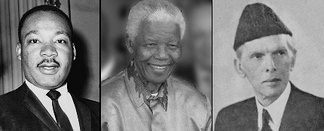 From left to right: Martin Luther King Jr, Nelson Mandela and Muhammad Ali Jinnah have influenced Yousafzai