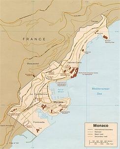 Карта Княжества Монако