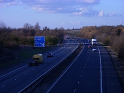 The M11 north of Cambridge