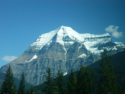 Mount Robson in British Columbia is the highest summit of the Canadian Rockies.