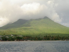 Clouds covering Nevis Peak