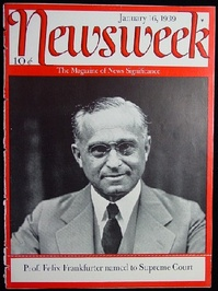 January 16, 1939, cover featuring Felix Frankfurter