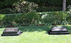 The graves of President Richard Nixon and First Lady Pat Nixon