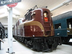 PRR GG1 electric locomotive at the National Railroad Museum