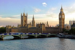 The Palace of Westminster was built in a pastiche Perpendicular Gothic Revival style in the Victorian period