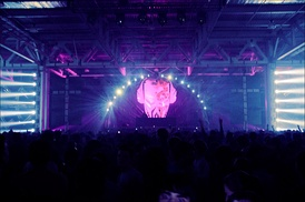 Aphrodite in 2009 at Pirate Station, the world's largest drum and bass festival at that time, in Moscow.