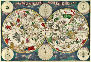 A celestial map from the 17th century, by the Dutch cartographer Frederik de Wit