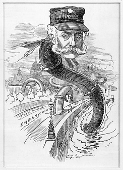 "Bazalgette as the ""Sewer Snake"", Punch, 1883[86]"