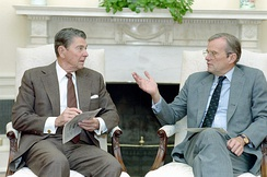 Brady with President Ronald Reagan in 1988
