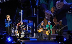 The Rolling Stones performing in Hyde Park, London on 13 July 2013