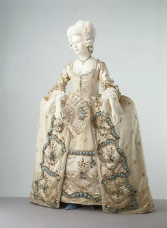 Sack-back gown and petticoat, 1775-1780 V&A Museum no. T.180&A-1965