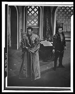 Paul Robeson (Othello) and Ferrer (Iago) in the 1943 Theatre Guild production of Othello