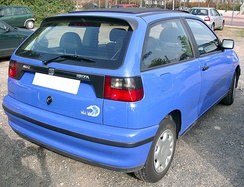 1996 SEAT Ibiza Mk2 facelift, rear view