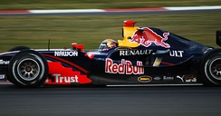 Buemi driving for Arden International at the Silverstone round of the 2008 GP2 Series season