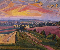 "Spencer Gore: ""Icknield Way"", 1912. Used as the cover picture of ""The Icknield Way Path - A Walkers' Guide"" published by the Icknield Way Association in 2012"