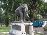The elephant statue as a present of King Prajadhipok of Siam at entrance to a temple