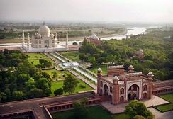 Mughal gardens at the Taj Mahal