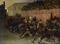 Riderless Racers in Rome, 1817 (The Walters Art Museum[15])