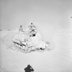 British Grant tank moving up to the front, 29 October 1942