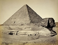 The Great Sphinx of Giza in 1858