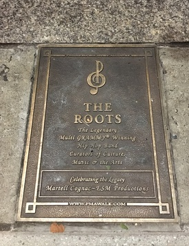 The Roots' Philadelphia Music Alliance Walk of Fame marker located on South Broad Street