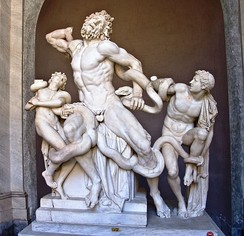 Laocoön and his Sons in the Vatican Museum, which was under the care of the Pontifical Commission for the Cultural Heritage of the Church