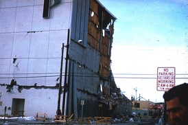 Penney Building in Anchorage in 1964, following the earthquake.