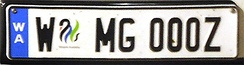 "A ""Euro Plate"" issued in the Australian state of Western Australia"