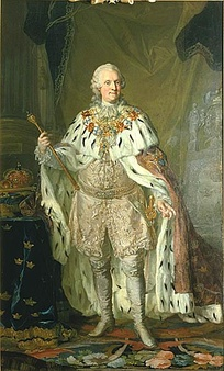 Adolf Frederick in old age as King, by Lorens Pasch the Younger