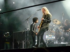 Alice in Chains performing at the Bilbao BBK Live Festival in Spain in 2010.