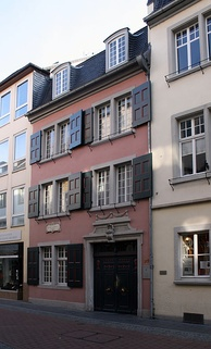 Beethoven's birthplace at Bonngasse 20, now the Beethoven House museum