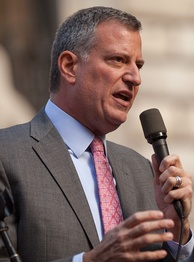 Bill de Blasio, the current and 109th Mayor of New York City