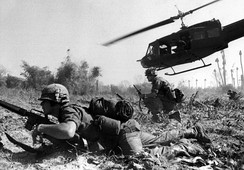 U.S. combat operations during the Battle of Ia Drang, South Vietnam, November 1965