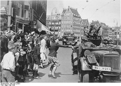 German troops in Amsterdam, 1940