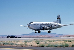 158th MAS C-124C landing at Travis AFB, California, 1974