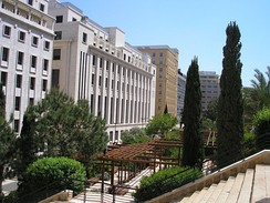 Roman baths park in Downtown Beirut.