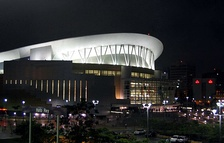 A night view of the José Miguel Agrelot Coliseum