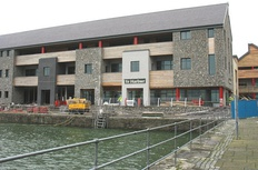 S4C headquarters in Carmarthen on the campus of the University of Wales Trinity Saint Davids
